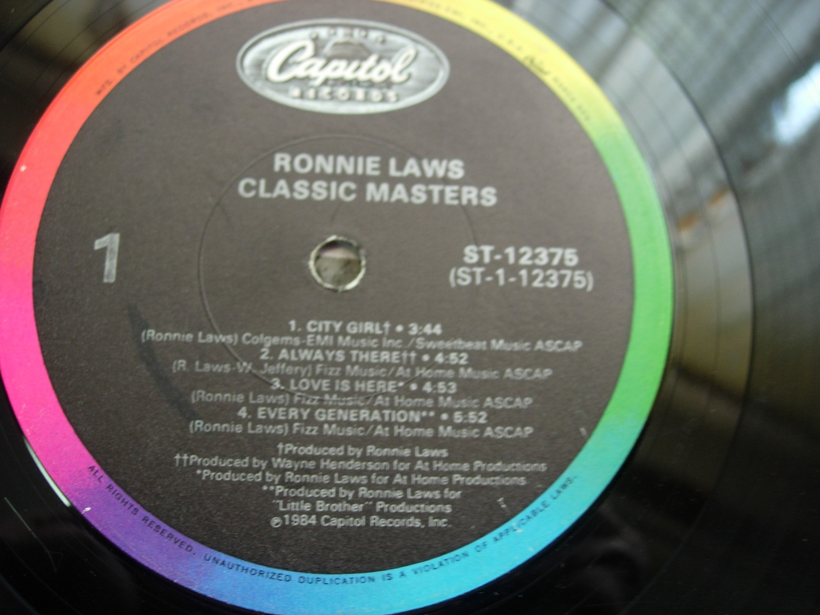 Ronnie Law - Classic Masters - Capitol Records ST-12375