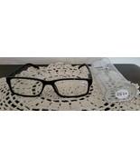 Black Plastic Framed ~ Spring Hinged ~ Reading Glasses w/Clear Case ~ +1... - $12.38