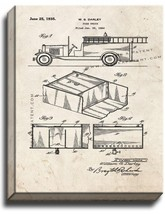 Fire Truck Patent Print Old Look on Canvas - $39.95+