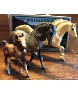 Vintage Breyer Model Horse Classic Andalusian Family (set of 3) 1984 Sea... - $48.37