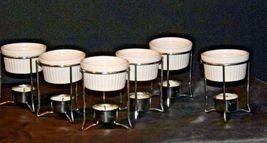 Butter Warmer Ceramic Cups Holders Seafood Crab Lobster Burner Table Set AA19-15 image 3