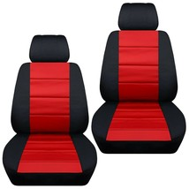 Front set car seat covers fits Chevy Sonic 2012-2020   black and red - $67.89+
