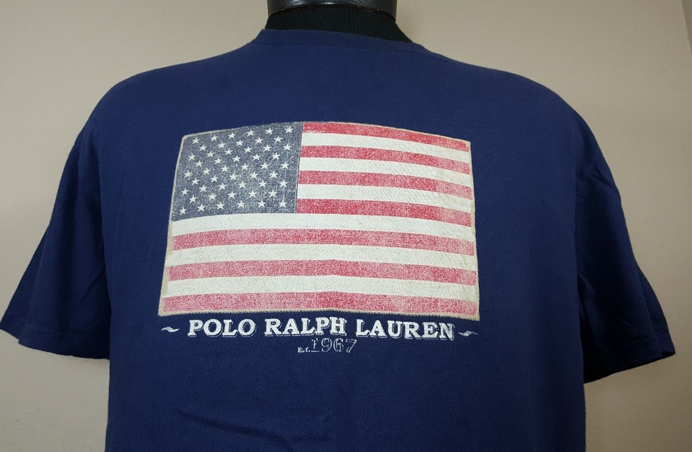 13711618e S l1600. S l1600. Previous. VTG Polo Ralph Lauren T Shirt Medium Spell Out  90's Flag Sport Bear Stadium
