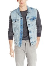 Levi's Strauss Men's Premium Cotton Button Up Denim Jeans Trucker Vest image 2
