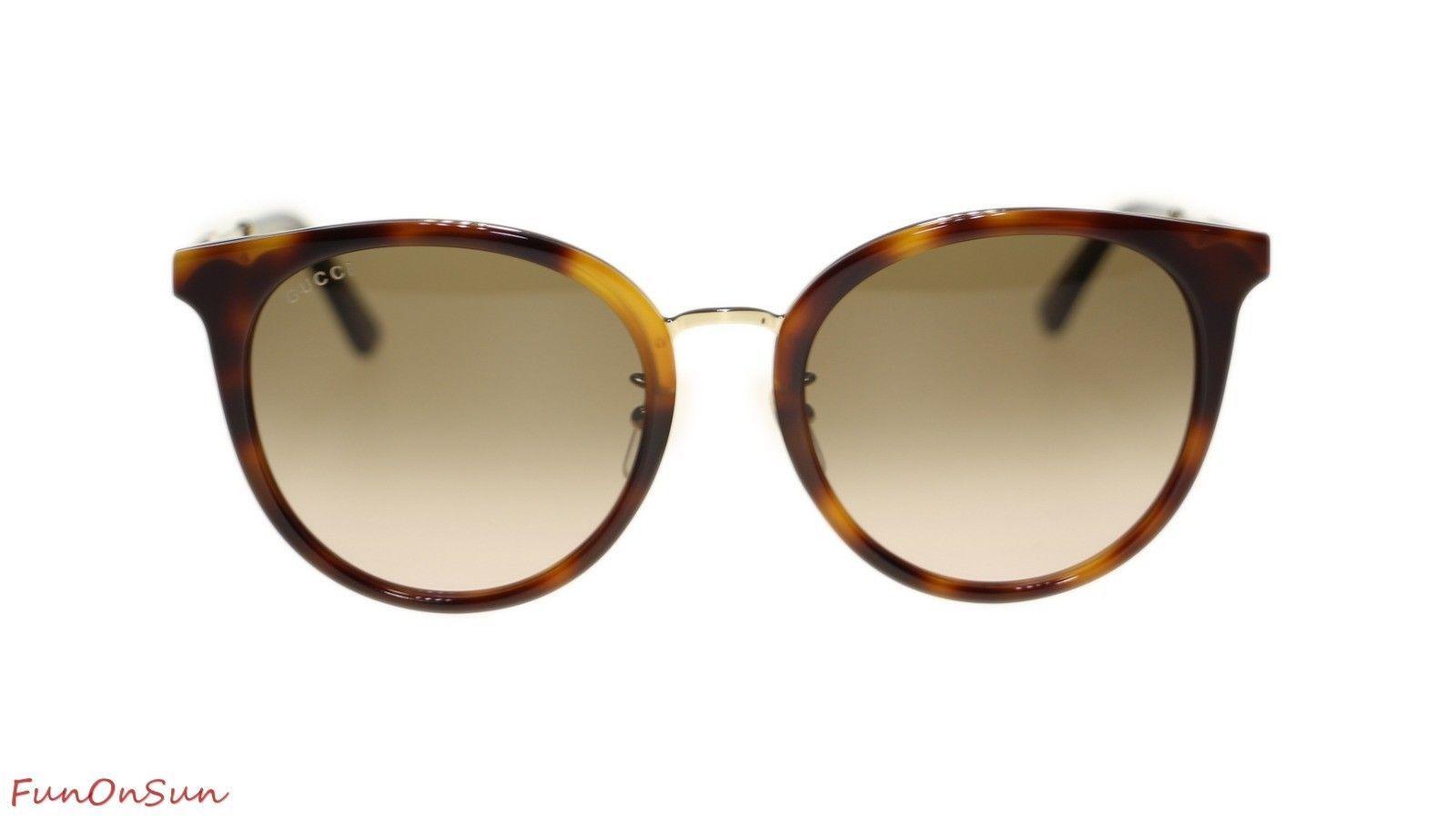 a4e1f5e84b2 10. 10. Previous. Gucci Women Sunglasses GG0204S 003 Havana Brown Lens 56mm  Authentic. Gucci Women Sunglasses ...