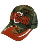 Cleveland Men's C Wave Pattern Adjustable Baseball Cap (Camouflage/Red) - $11.95