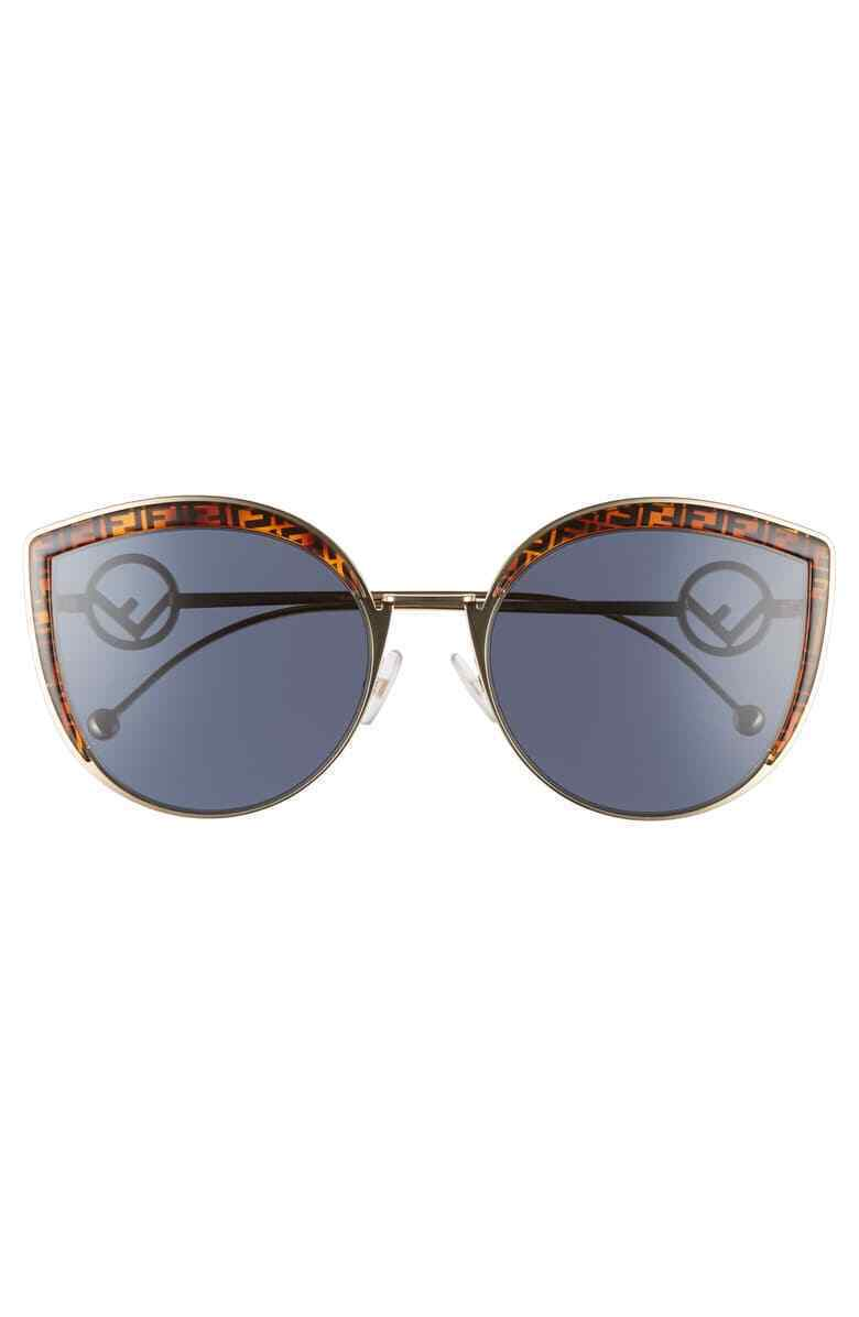 Fendi F is Fendi FF 0290/8 J5G Gold /Blue Butterfly Sunglasses 58mm image 3