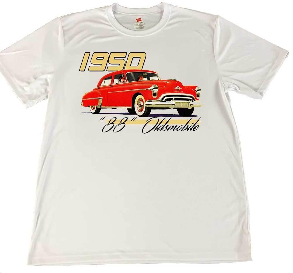 "1950 Delta ""88"" Oldsmobile Car Wicking T-Shirt w American Flag Car Coaster - $14.80 - $16.78"