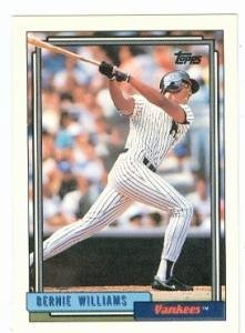 Primary image for Bernie Williams baseball card (New York Yankees) 1992 Topps #374 Rookie Card