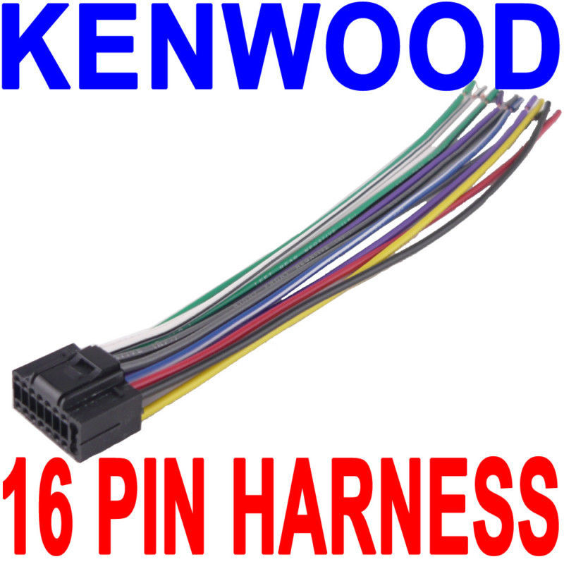 Surprising Kenwood Wire Wiring Harness 16 Pin Cd Radio Stereo Wiring Digital Resources Nekoutcompassionincorg