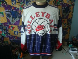 Vintage 90's Nike Volleyball All Star Team Gray Tag Pullover Shirt L  - $346.49