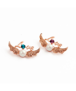 Fashion Imitation Pearl Wing Angel Wings Charm Brooch For Girls - $7.47