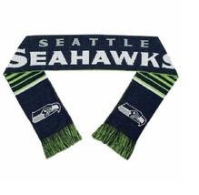 """Nfl 2016 Reversible Stripe Scarf Seattle Seahawks 64"""" Long By 7"""" - $24.99"""