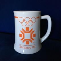 Rare SARAJEVO 1984 OLYMPIC MUG XIV Winter Games Ceramic Stein Wallace Be... - $26.45