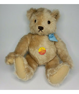 Vintage Steiff Mohair Teddy Bear w/Tag Button and Easter Outfit and Pass... - £64.78 GBP