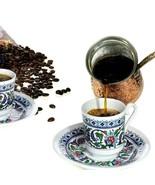 Turkish Coffee-Greek Espresso Cups and Saucers (6 Sets) 12 Pieces Topkap... - $29.61
