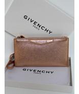 New Givenchy Antigona Grained Rose Gold Metallic Leather Wallet Messenge... - $390.04