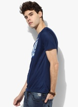Nwt Jeans Men's Navy Pepe Graphic Slim Fit Round Neck Polycotton T-shirt Men Cot image 2