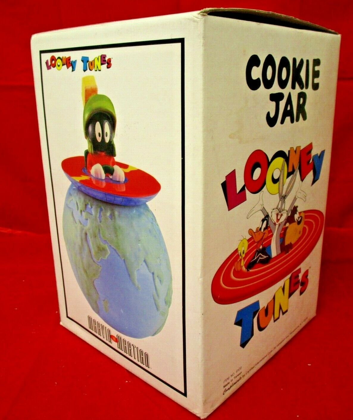 Primary image for Looney Tunes Compliment Marvin Martian UFO Ceramic 12 in NIB Cookie Jar No 6108