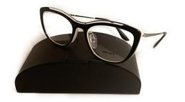 Prada Women's Black Cats Eye Glasses with case VPR 04V 4BK-1O1 53mm - $185.99