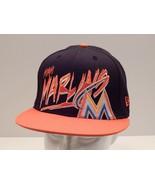 Miami Marlins Black & Orange New Era 9Fifty Snapback Hat Cap 100% Cotton... - $26.14