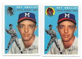 1954 Topps Archives Milwaukee Braves Roy Smalley #231 Gold & Regular 2Cards - $1.28