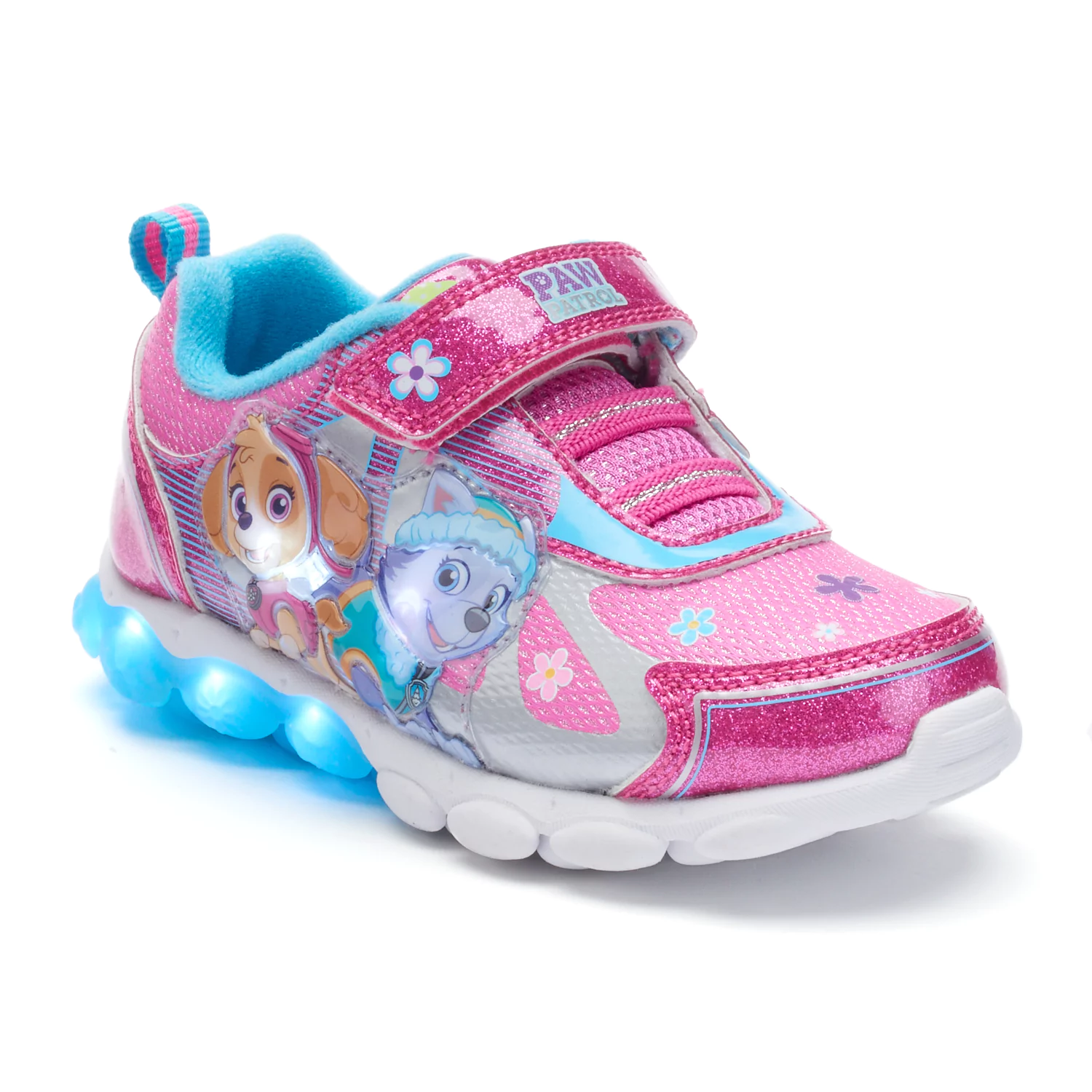 Girls Toddler Child Paw Patrol Light Up Sneakers Size 7 8 9 10 or 11 Skye