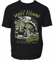 Fishing T Shirt All Fish Funny Bass Angling S Rod Its Mens Fisher Man Ho... - $14.34+