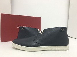 Salvatore Ferragamo Lassen Boot Blue Leather Men's Ankle Lace Chukka Boo... - $310.15 CAD