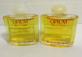 Lot Of 2 YSL OPIUM Yves Saint Laurent Eau De Toilette EDT .26 oz Original  - $18.69