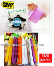 Ice Cream Popsicle Mold Disposable Bags Must Try Do it Your Self New Gra... - $12.90+
