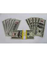 prop money full print front and back for movies 10x $100 Dollar Bills - $1.97