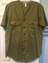 Vtg Boy Scouts Of America Green Mens Shirt Neck Sz 15 Small Collarless No Patch - $18.69