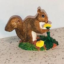 Franklin Mint Animal Figurine Elfie Harris Vintage 1986 Miniature Squirrel Rare - $28.91