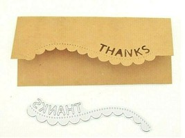 """Edge Die """"Thanks"""" for Card Making, Scrapbooking, and More!"""