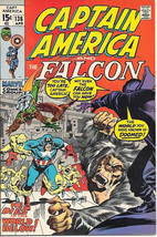 Captain America Comic Book #136, Marvel Comics 1971 VERY FINE - $22.14