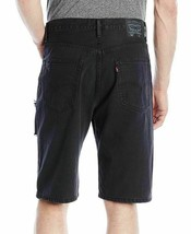Levi's Men's Cotton Loose Straight Distressed Denim Shorts Black 355690212 image 2