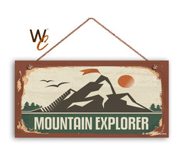 Mountain Explorer Sign, The Great Outdoors Sign, Campground 5x10 Sign - $11.39