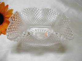 1016 Vintage Clear Crimped Deep Dish Candy Bowl    - $12.50