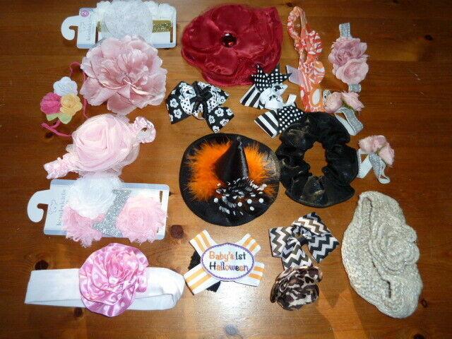 NWT Gymboree HOLIDAY Pink Satin Ribbon Clips Plastic Barrettes NEW