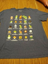 Super Mario Bros Large Tshirt All Characters  - $8.09