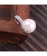 Sterling Silver Pearl Pendant for girls, Delicate pendant for Christmas ... - $25.00