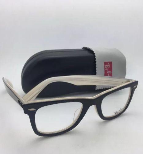 45192907a58 Iconic New RAY-BAN WAYFARER Eyeglasses RB 5121F 2464 50-22 Black on Horn