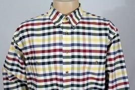 ROUNDTREE & YORKE Men's XL Easy Care Oxford Button Down LS Shirt w/2 Poc... - $26.11