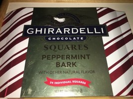 Ghirardelli Chocolate Peppermint Bark Squares 10 Oz 24 Individual Squares Gift - $9.89