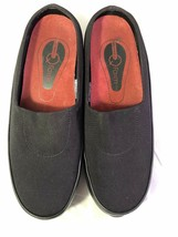 WOMEN'S MERRELL Q FORM BLACK MULE SHOES SIZE 7.5 AIR CUSHIONED ARCH SUPP... - $12.99