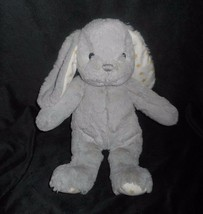 "13"" CLOUD B SOFT GRAY HUGGINZ BUNNY RABBIT GOLD STARS STUFFED ANIMAL PLU... - $20.57"