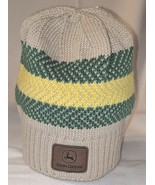 John Deere LP67786 Acrylic Knitted Tan Green And Yellow Beanie - $15.00