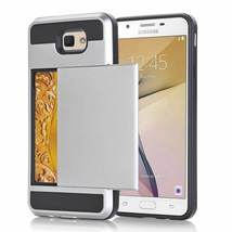 Gray Hybrid Case for Samsung Galaxy Note5 - Credit Card Slot Holder USA image 2