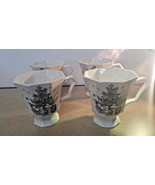 Nikko Christmastime Holiday Octagonal Pedestal Coffee/Tea Mug (Set of 4) - $30.96